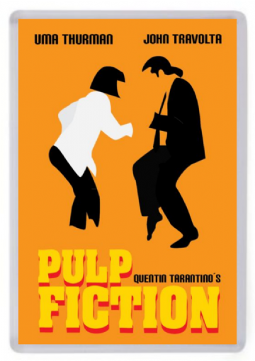 Pulp Fiction (Twist Dance) Fridge Magnet. Minimalist Design